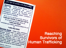 Reaching Survivors of Human Trafficking in NYC